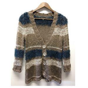 Spense Knits   Soft & Fuzzy Button Down Cardigan